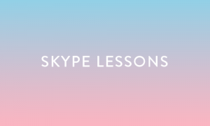 If you prefer to take lessons in the comfort of your own home, I offer a reduced rate for Skype lessons